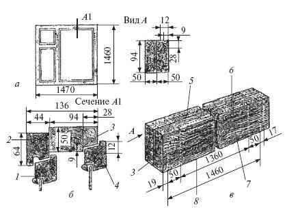 Оконный блок ОР15-15: а
