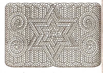 Схема плетения циновок