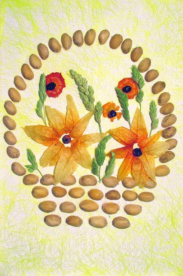 Шаблоны для поделок из семян 618