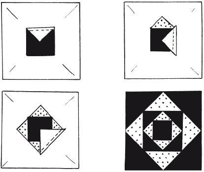 Схема пришивания лоскутов. «