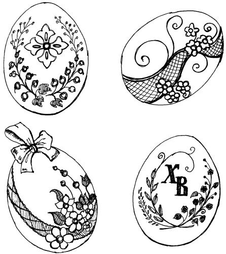 рисунки на яйцах пасхальных фото