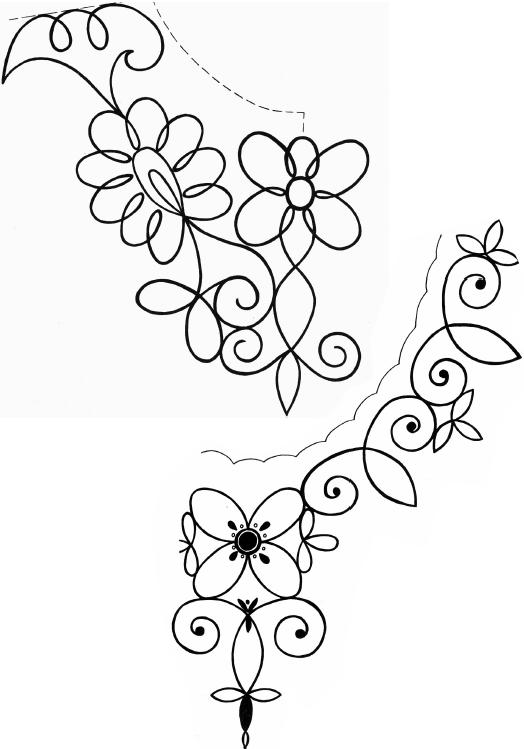 Растительные узоры для вышивки