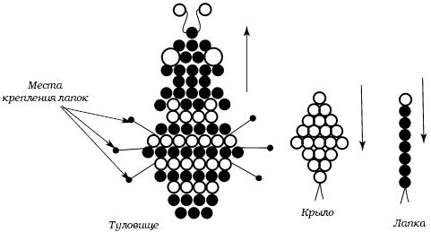 Схема броши «Пчелка»