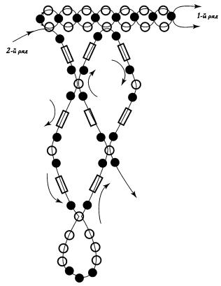 Схема колье «Нежность»