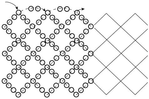 Схема основы колье «