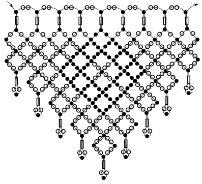 Схема колье «Ажурное»