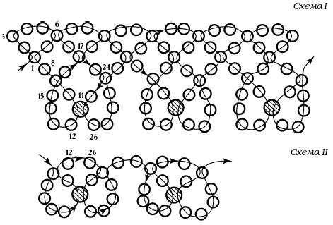Схема ожерелья «Жемчужное»