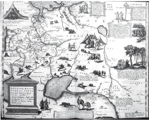 Карта Московии. 1562 г.