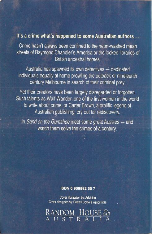 Sand on the Gumshoe: a century of Australian crime writing