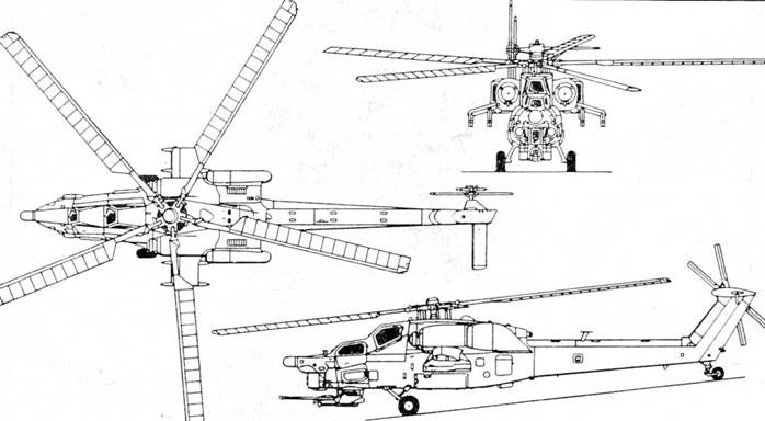 Вертолет ми 28 схема