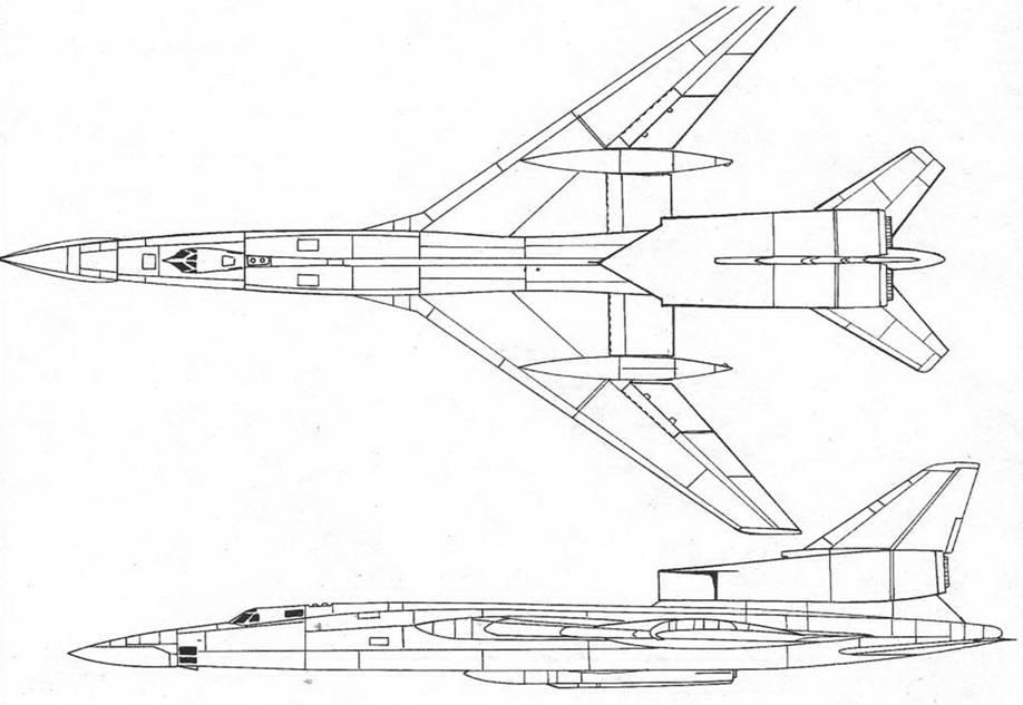 Схема «106» (Ту-106К) с тонким