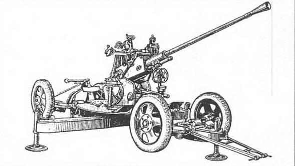 37-мм автоматическая зенитная пушка 61-к образца 1939 года - фото 8