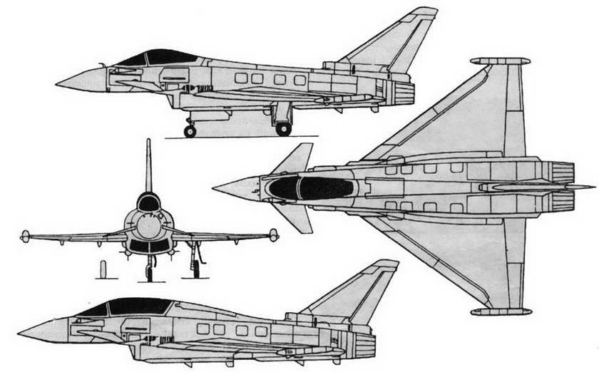 Схема самолета EF2000