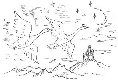 Как нарисовать рисунок из сказки дикие лебеди