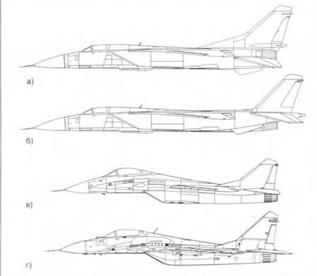 Изменение облика МиГ-29 во