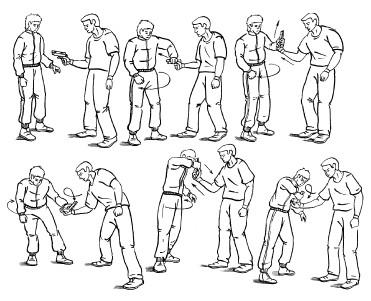 инструкция по самообороне на дому в картинках и описании