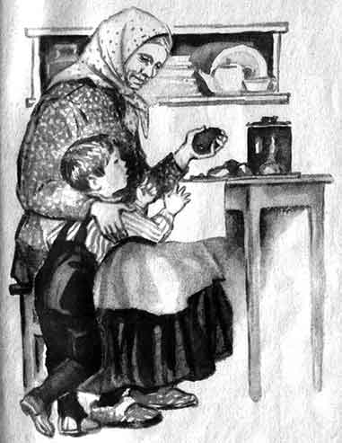 бабушка с внуком рассказ
