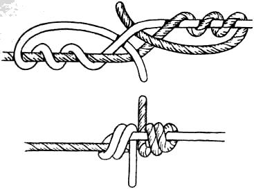 как завязать узел на нитке для вязания