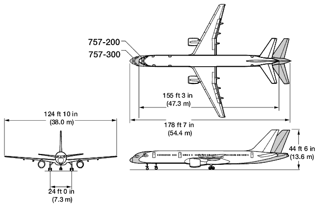 «Боинг 757-200»[12] рассчитан