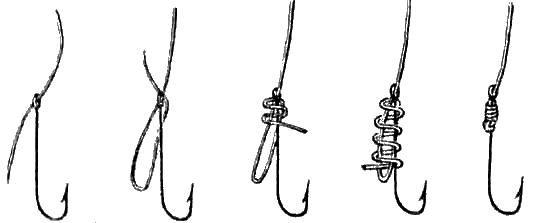Способ привязывания крючка