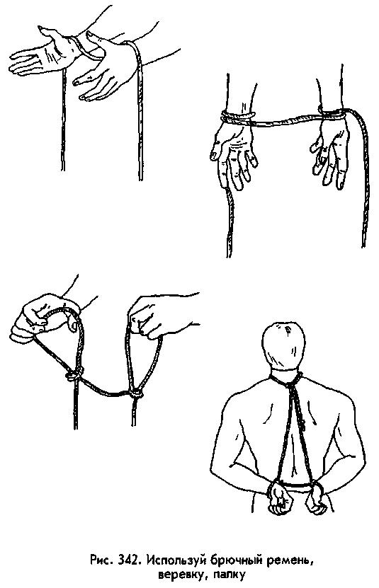 Как самому себе связать руки за спиной