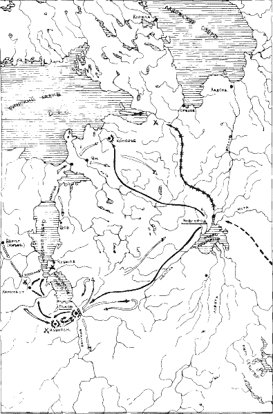 Ледовое побоище. Карта боевых