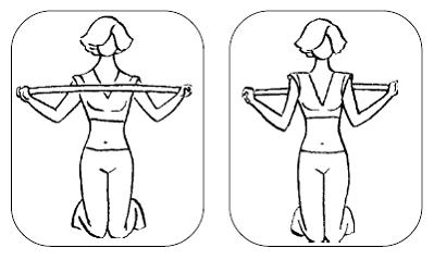 Упражнение с картинками с гимнастической палкой