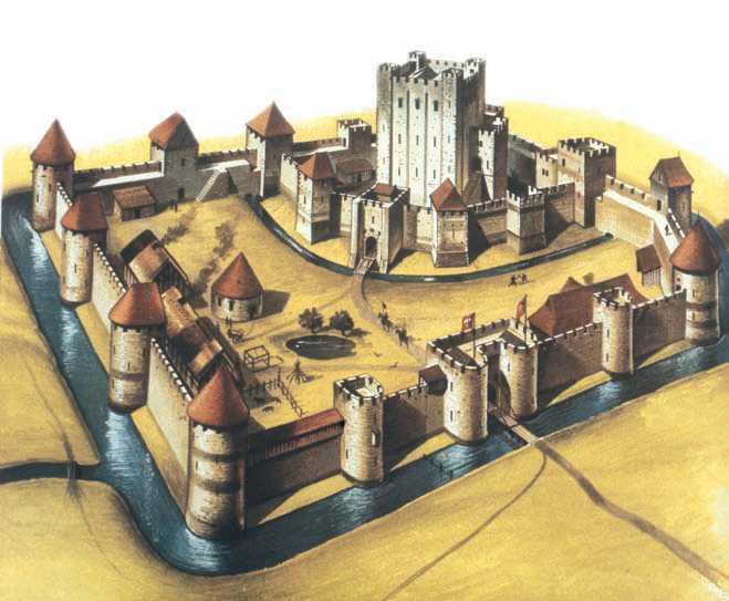 Средневековый замок. Схема