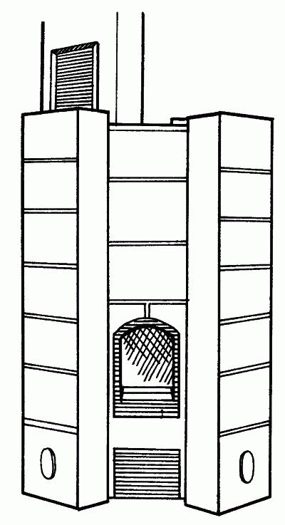 Печь каминного типа «Туликиви»
