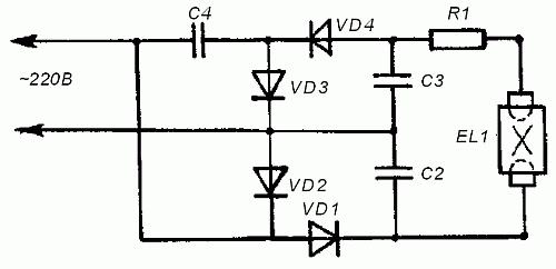Схема включения ламп дневного