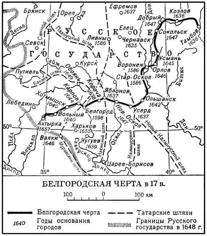Белгородская черта в 17 в.