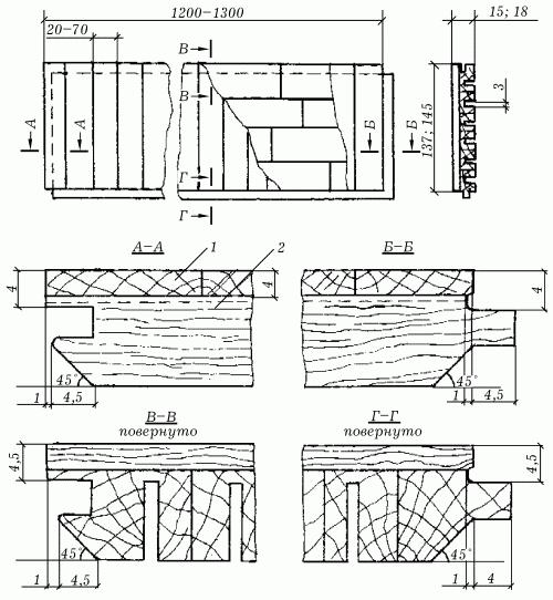 Паркетные доски типа ПД2: 1