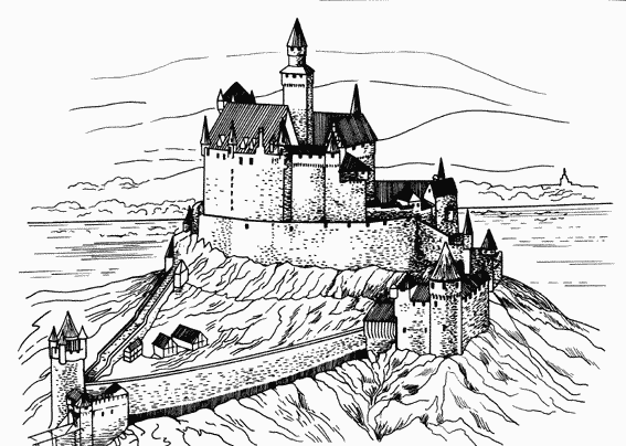 Раскраски про замки
