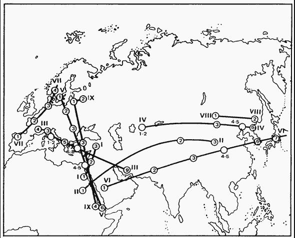 Карта-схема пассионарных