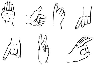 Как нарисовать показывающий палец