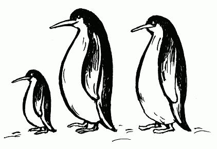 Имитировать движения пингвинов