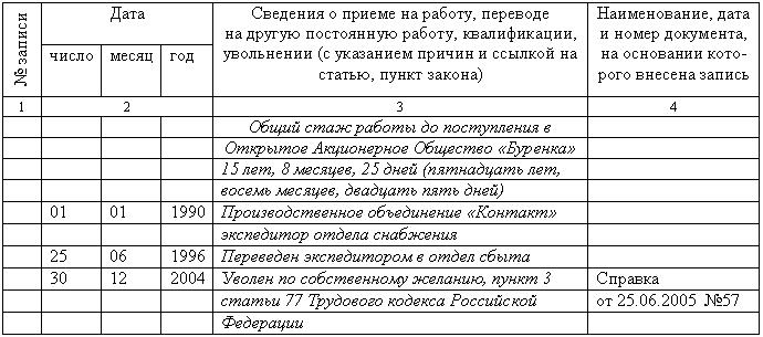 Правила Оформления Дубликата Трудовой Книжки Образец img-1
