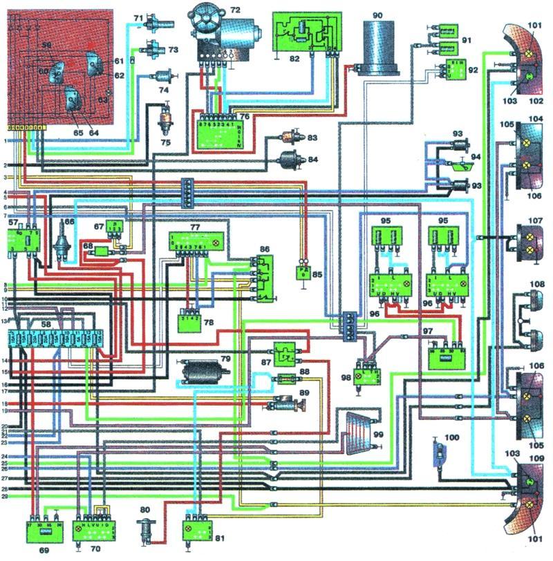 электропроводка газ 3110