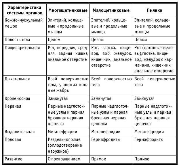 Краткие характеристики по биологии 8 класс