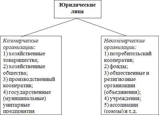 Схема 7. Виды и формы