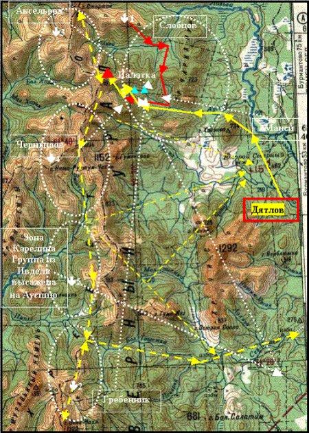 Схема расположения отрядов