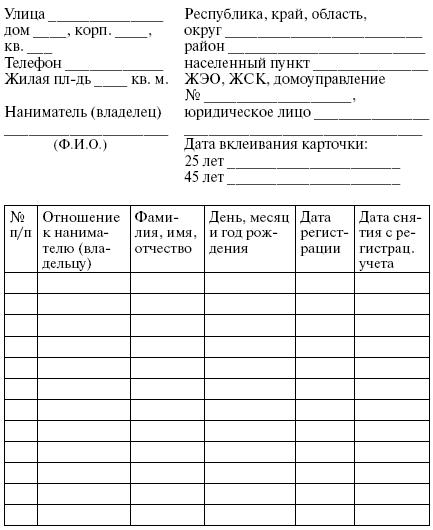 Поквартирна картка україна полтинник 24 года